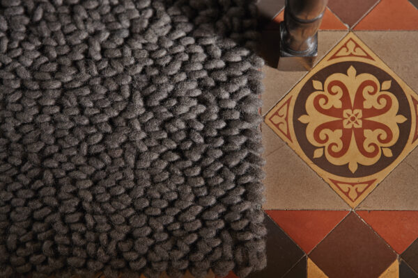 Union - fossil - modern wool rugs