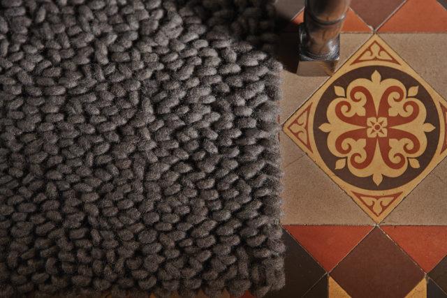 Union - grey - modern wool rugs