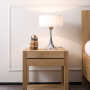 Oak Azur bedside table, 1 drawer
