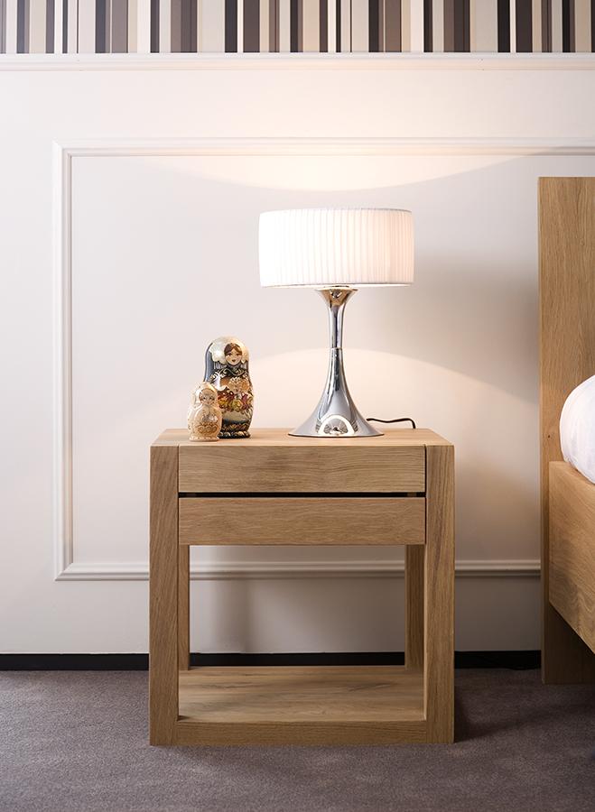 Oak Azur bedside table, 1 drawer