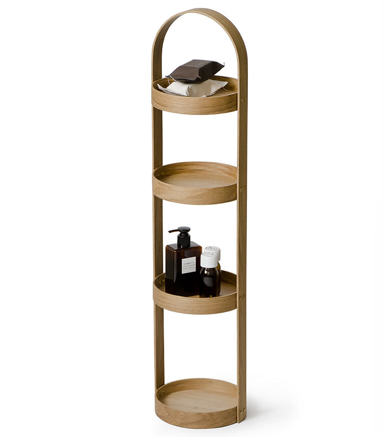 oak storage caddy - 4 tier