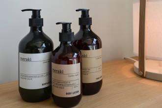 cotton haze body lotion & hand wash, linen dew body wash