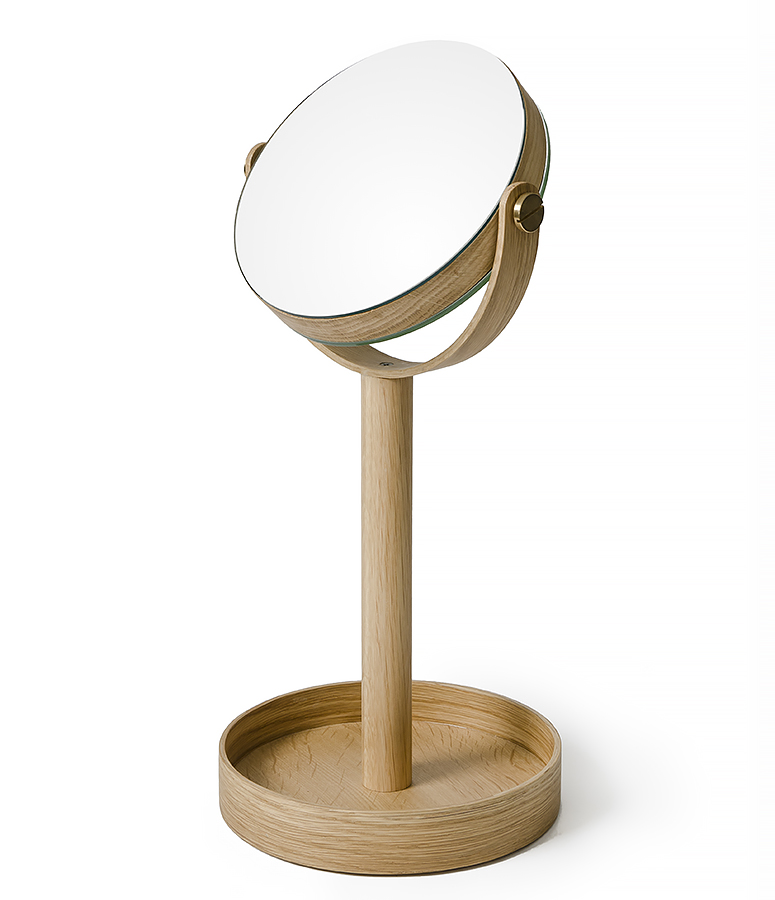 magnify mirror - light oak