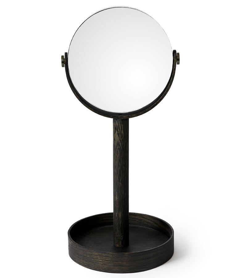 magnify mirror - dark oak