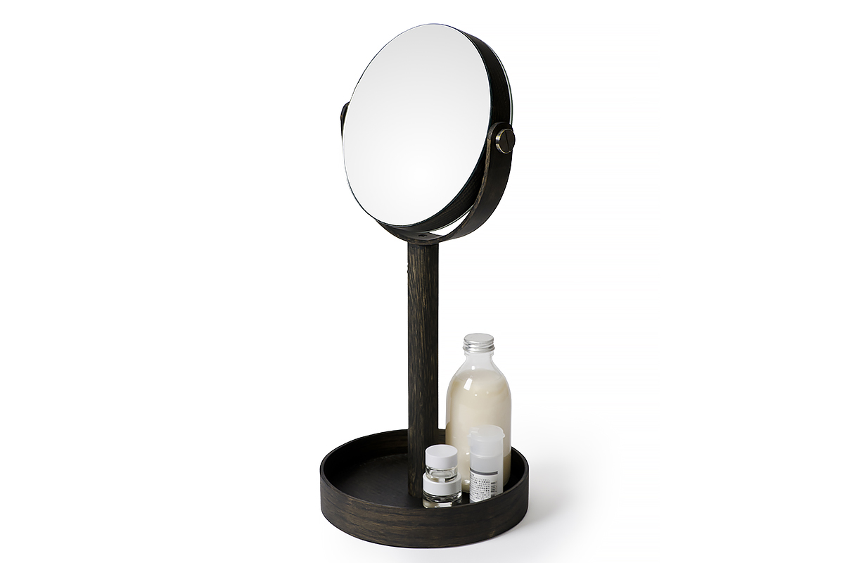 magnify mirror - dark oak
