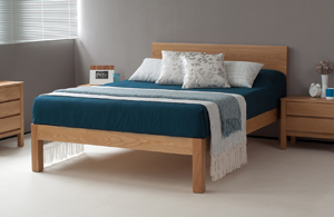 solid oak Tibet bed comes in a choice of wood and in a range of bed sizes