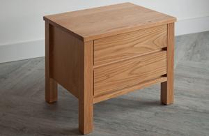 Shaker style 2 drawer bedside