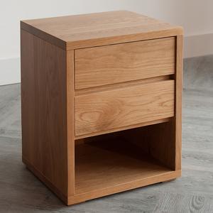 RS black-lotus-cube-2-drawer-bedside