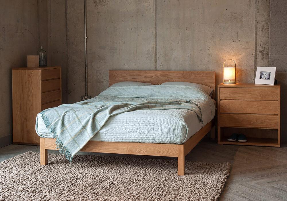 Exclusive Black Lotus Cube Bedroom Storage Furniture in Oak