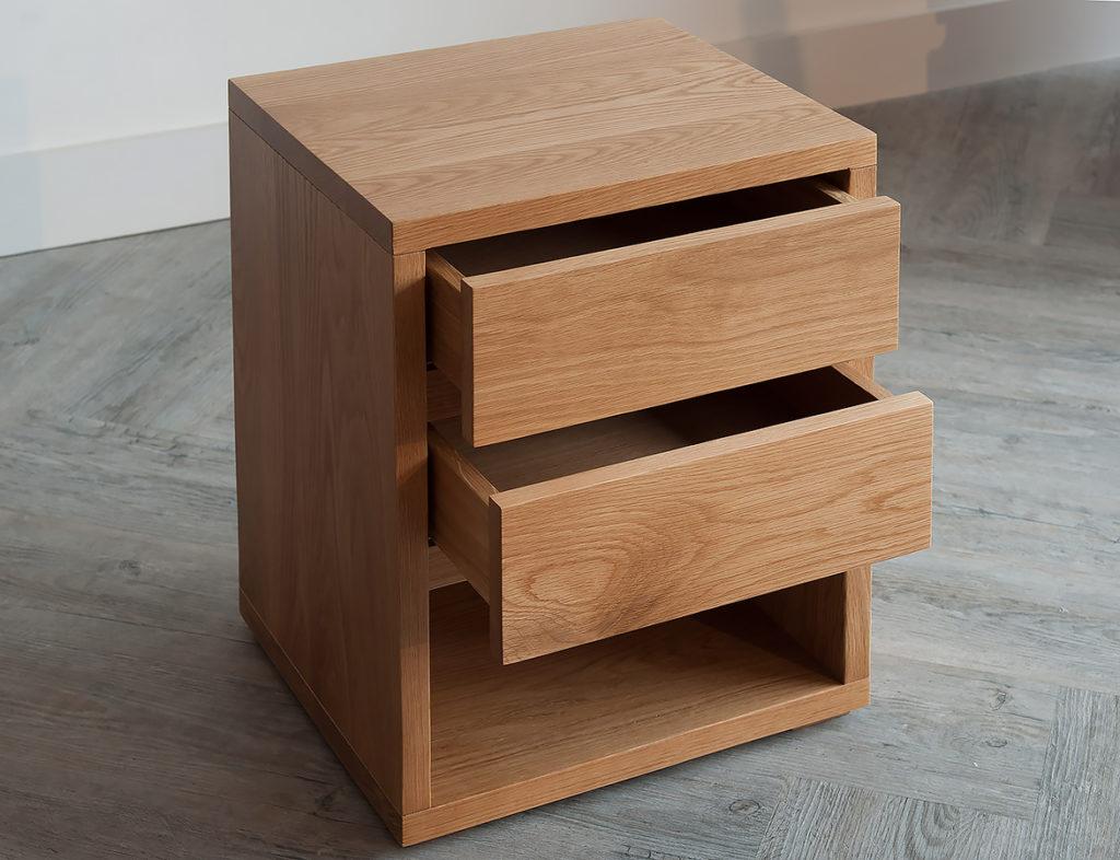 black lotus 2-drawer bedside-open-2