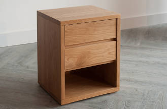 black lotus cube 2-drawer bedside