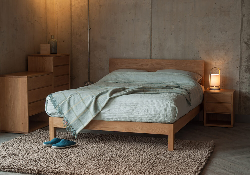 Cube by Black Lotus a contemporary collection of bedroom storage chests in Oak or Walnut