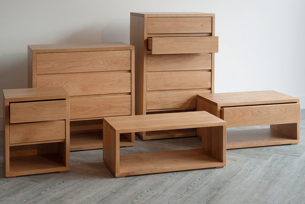 Black Lotus Cube solid oak contemporary bedroom storage furniture collection