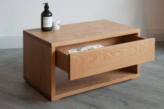 black lotus oak one-drawer-cube-dressed