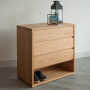 oak 3-drawer cube, dressed