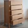 shaker 5-drawer chest open