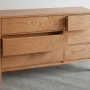 shaker 6-drawer chest open