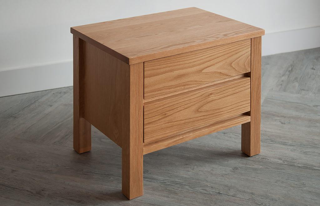 shaker style 2-drawer bedside