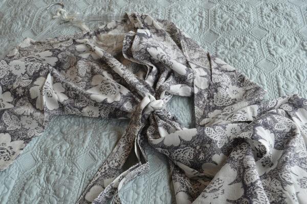 bohemia floral grey robe