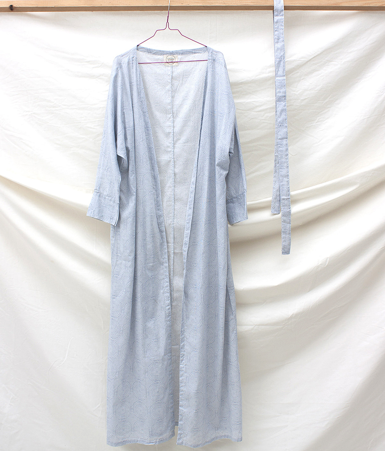 long length cotton robe - spirals