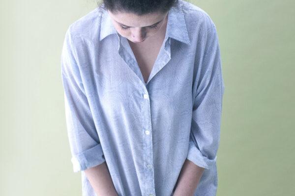 Pale blue cotton nightshirt