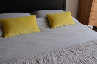 also home grey and lime bedding with ruched bedspread