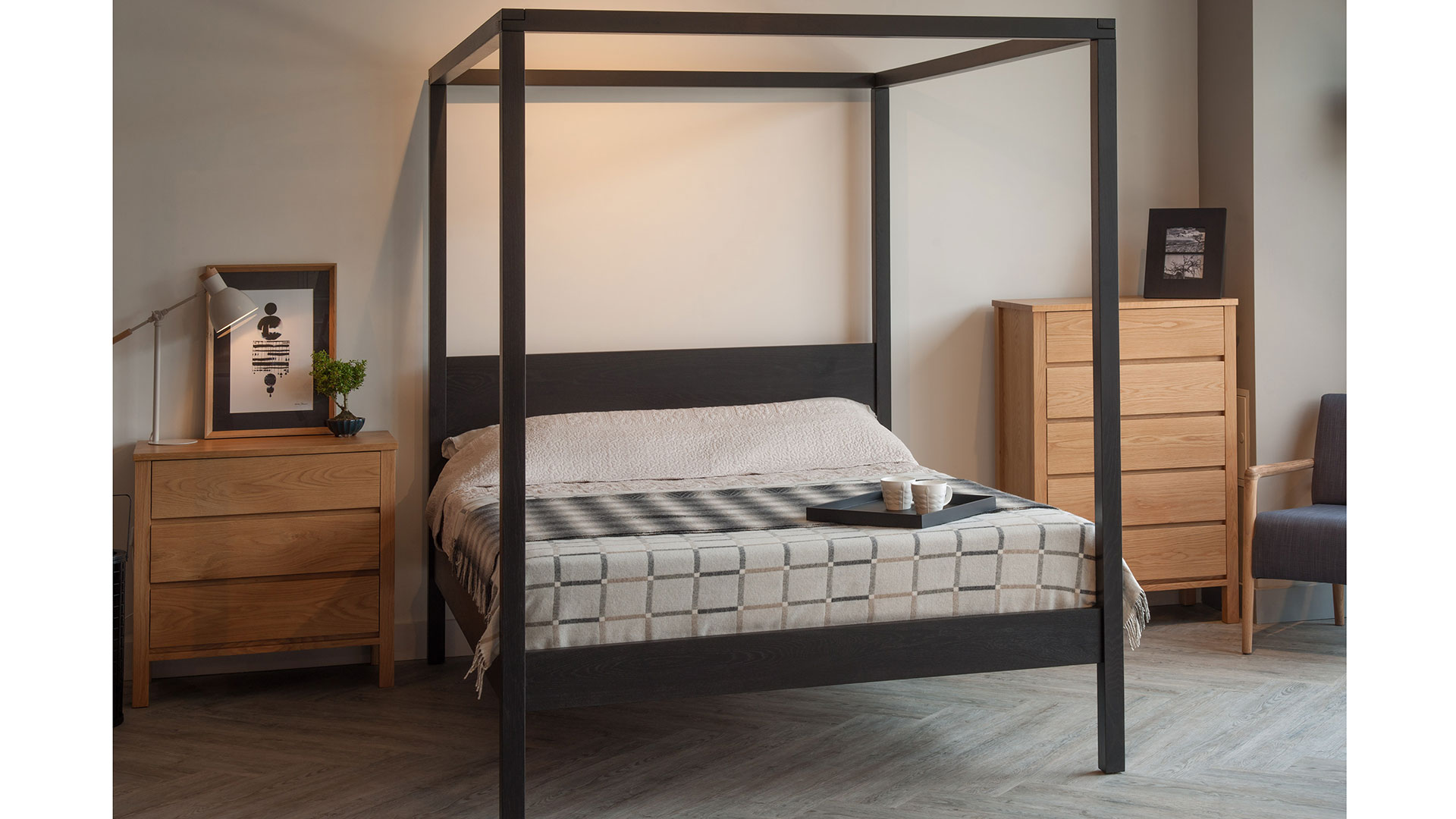 Black Four Poster Bed: Contemporary 4 Poster