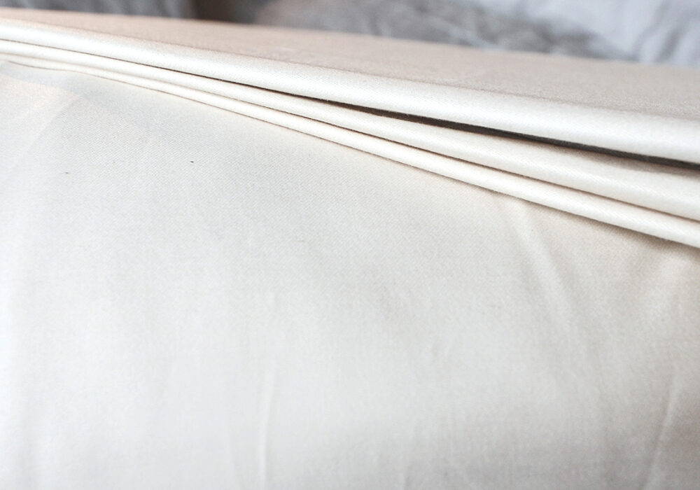 organic ethically sourced cotton bedding sateen-detail