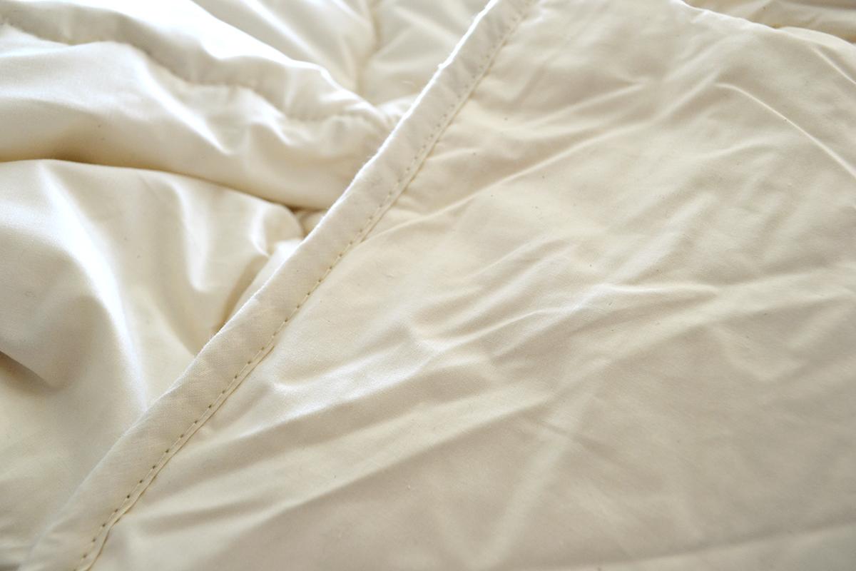 GOTS and Soil Association Certified organic cotton-filled duvet suitable for Vegans