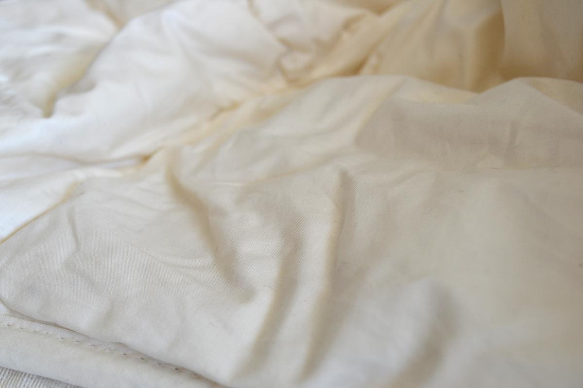 GOTS Soil Association Certified organic cotton duvet, Vegan friendly - no animal fibres