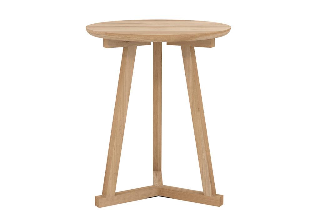 Ethnicraft Oak Tripod side table