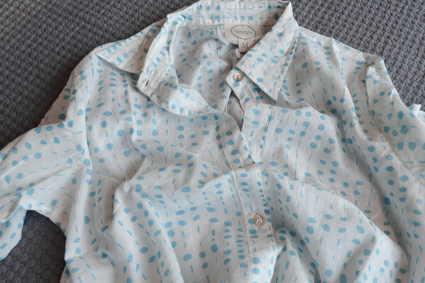 blue dots soft cotton nightshirt