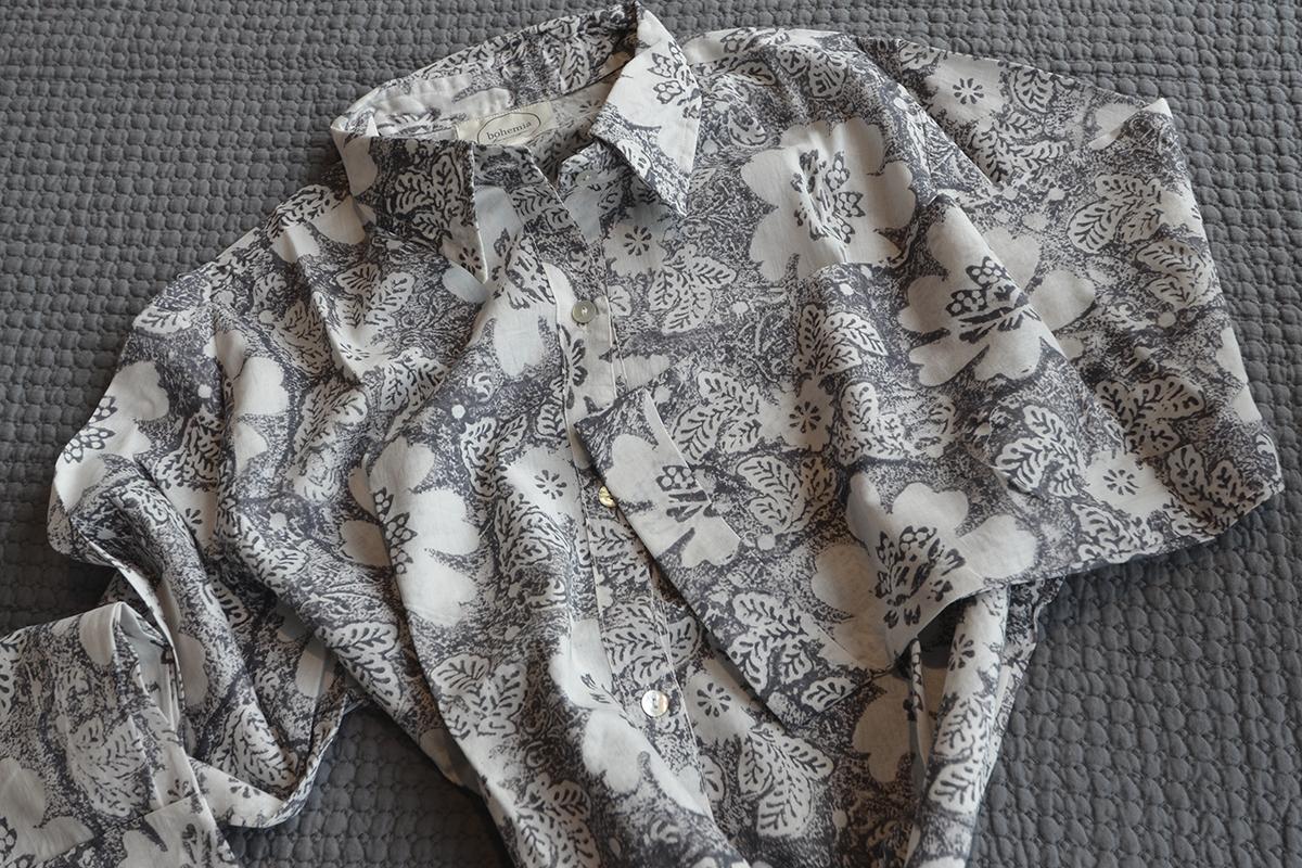 2444a9874b Grey Floral Nightshirt