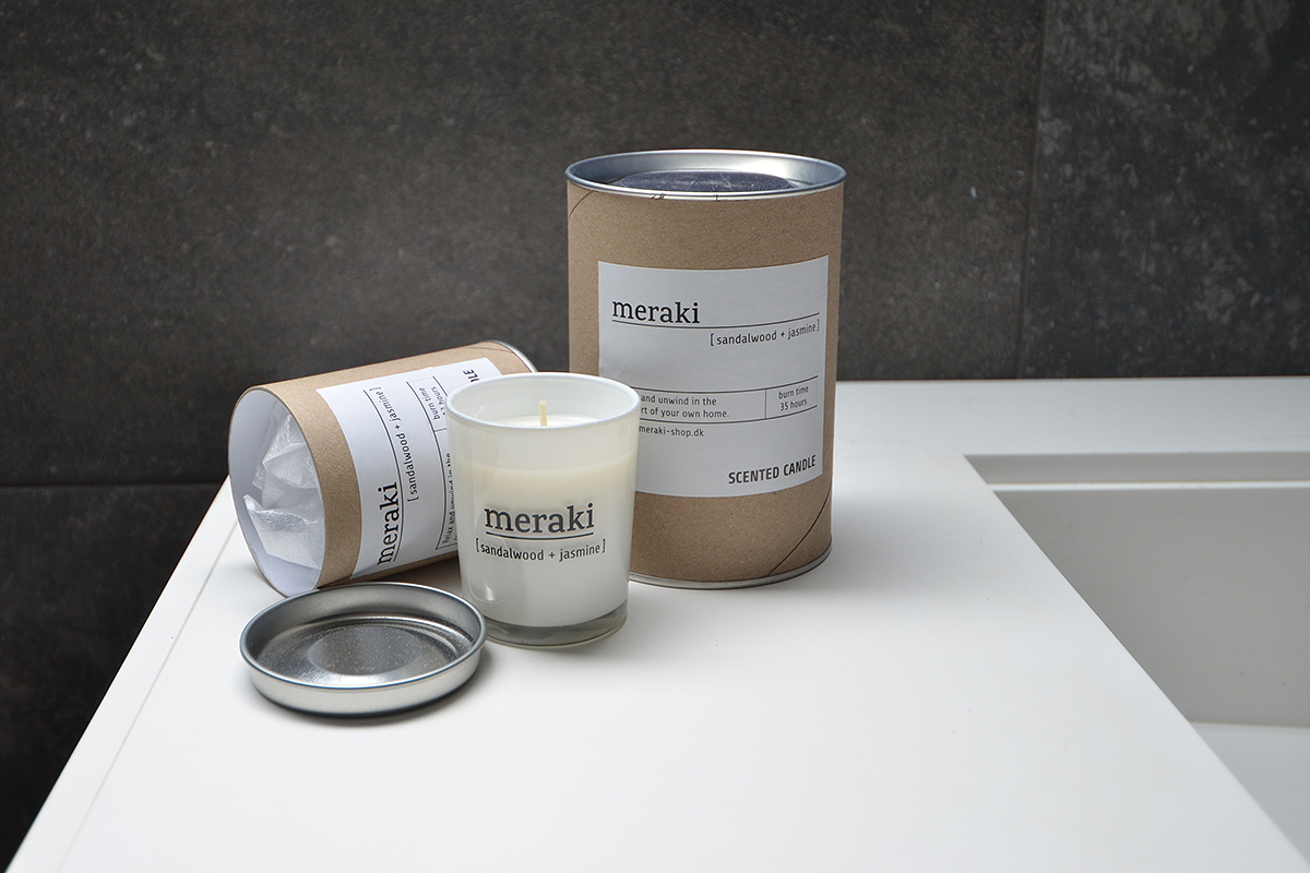 Meraki Scented Candles Room Scent Natural Bed Company