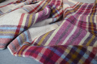 colourful check throw