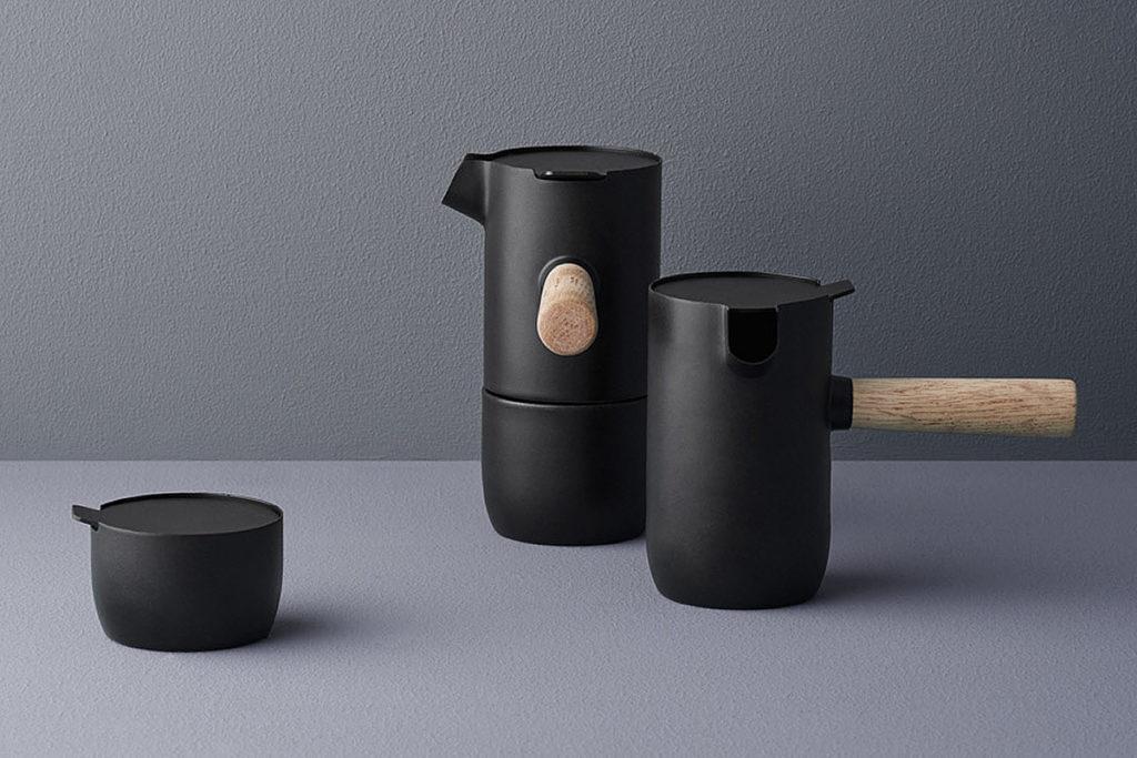 Stelton coffee maker, sugar bowl