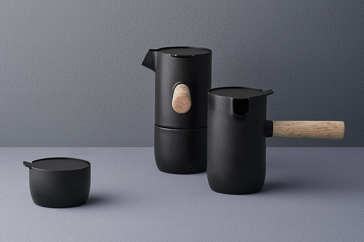 Stelton coffee maker, sugar bowl
