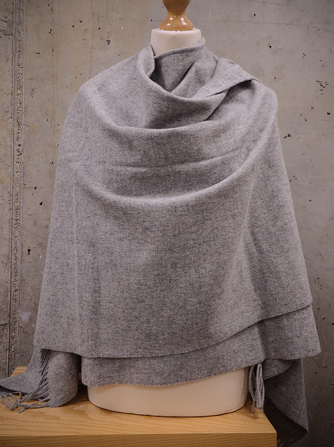 Luxurious grey wool wrap
