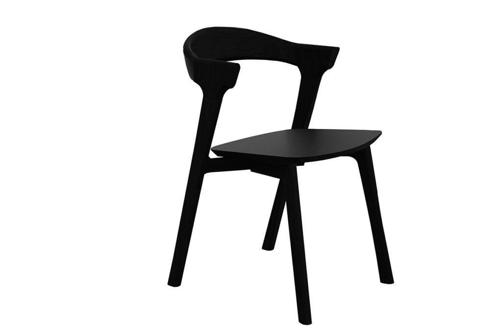 1200x800 051491 Oak Bok Chair - no armrest - black