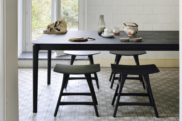 1200x800 Oak Osso stool black