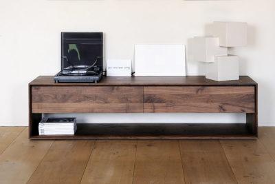Ethnicraft Walnut Nordic TV cupboard lifestyle 120cm