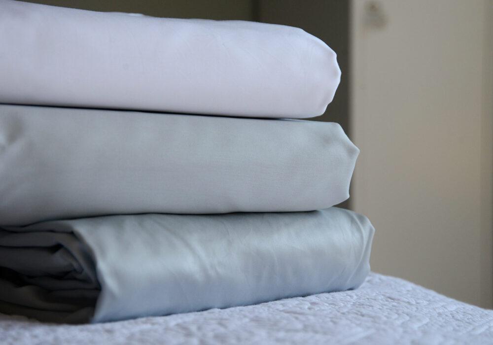 grey or white bedding