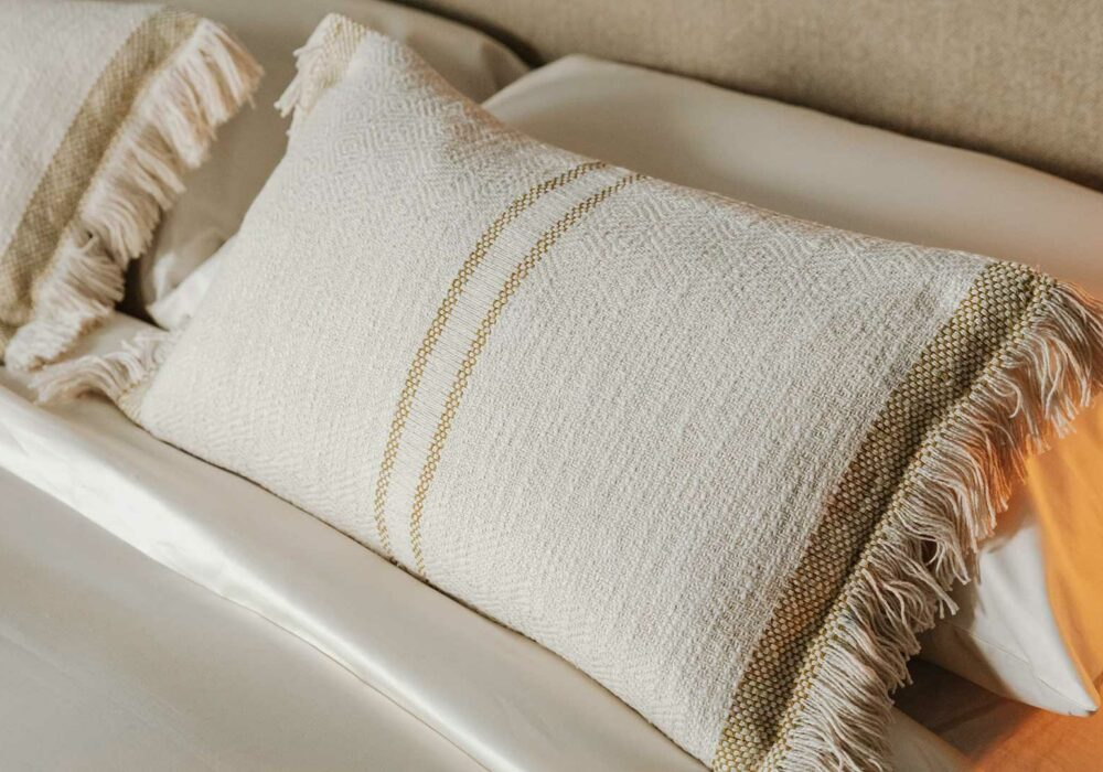 andas soft cotton cushions - olive