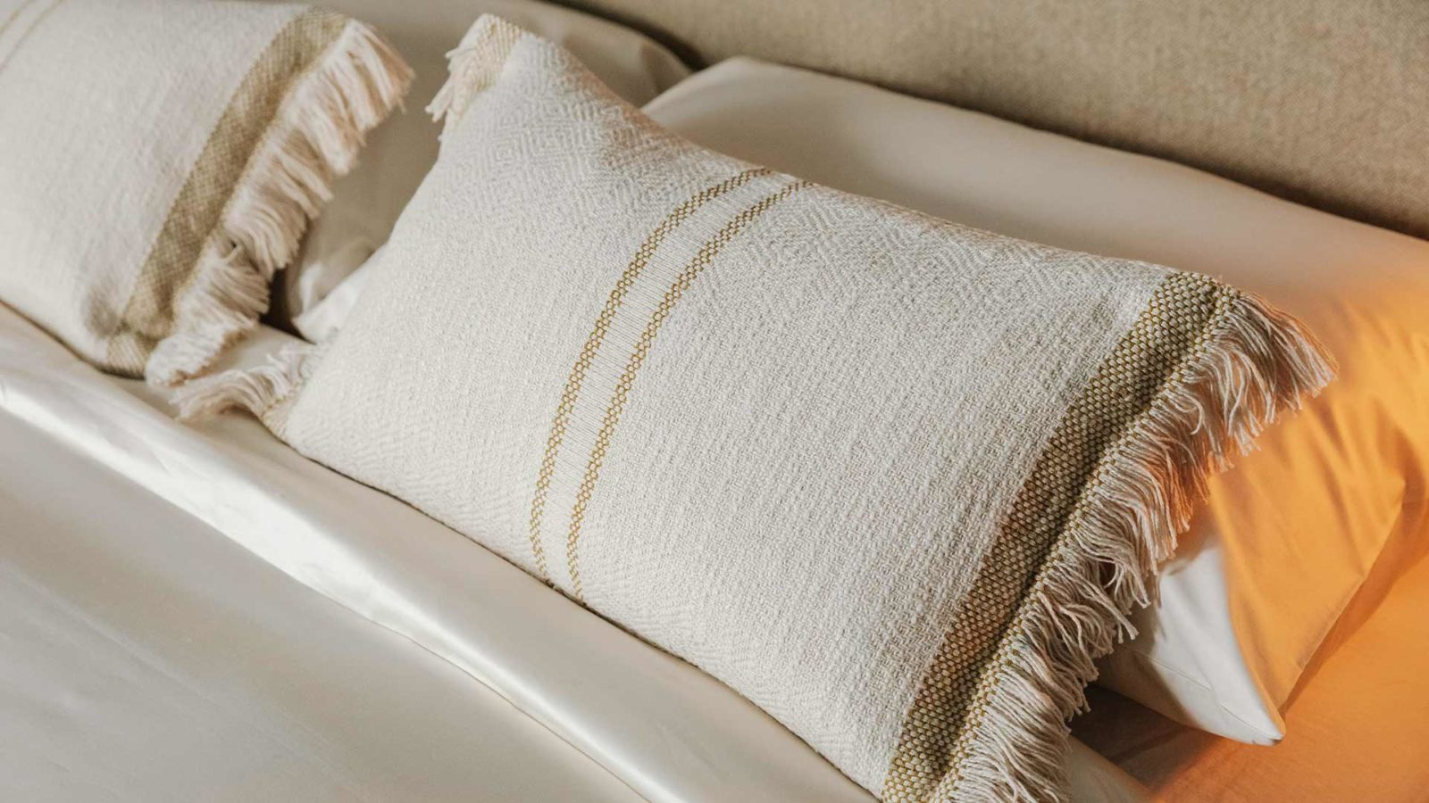 andas soft cotton cushions - olive