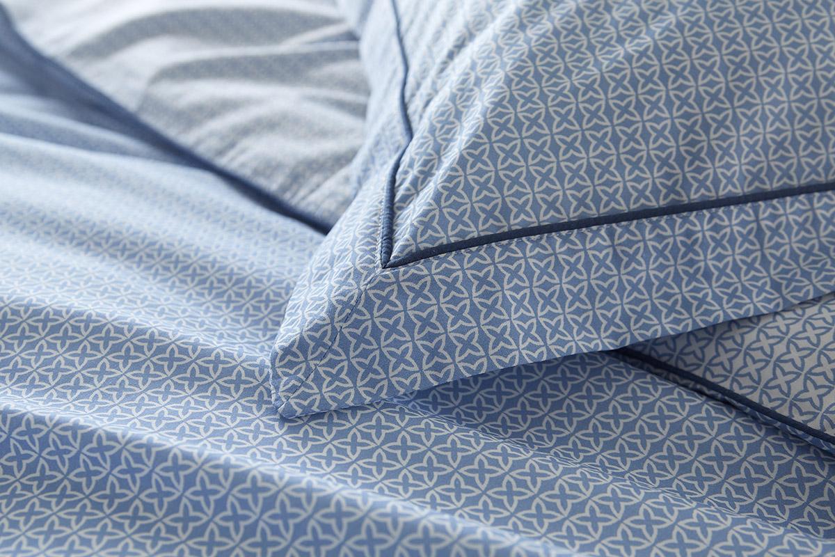 Astral Blue Patterned Duvet Set - Pillowcase Detail