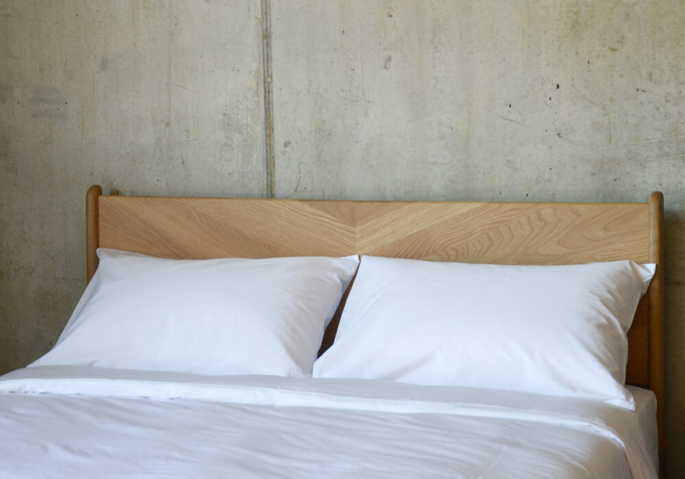 Environmentally friendly bedding made from Bamboo fibres shown in white
