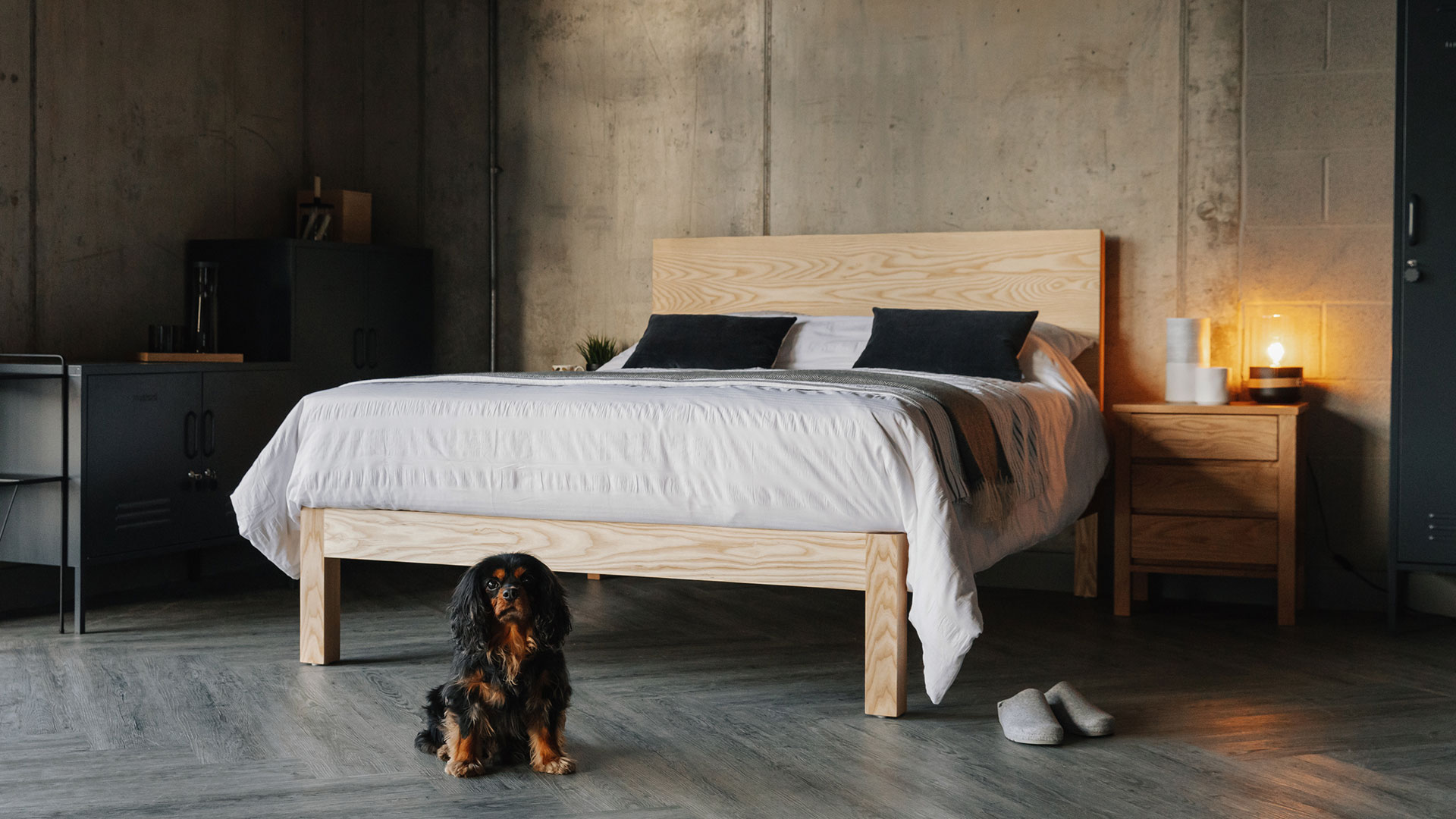 Picture of: Bamford Chunky Solid Wood Bed Natural Bed Company
