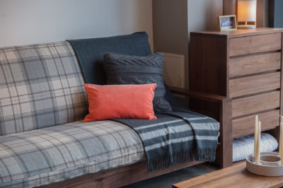 Black Lotus cuba sofa-bed close up