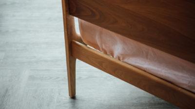 Camden handmade bed - detail of headboard leg