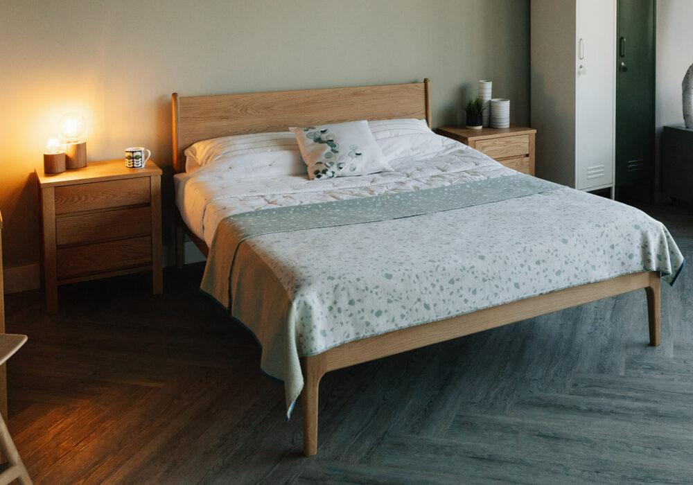 solid oak handmade bed
